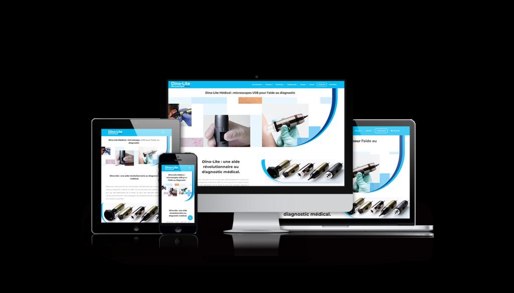 réalisation site internet ecommerce dino lite médical agence de communication