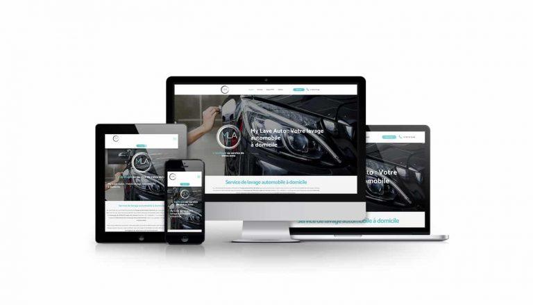 Présentation site internet vitrine et de réservation My Lave Auto