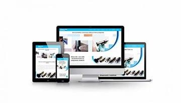 Présentation site internet vitrine et boutique en ligne dino-lite médical