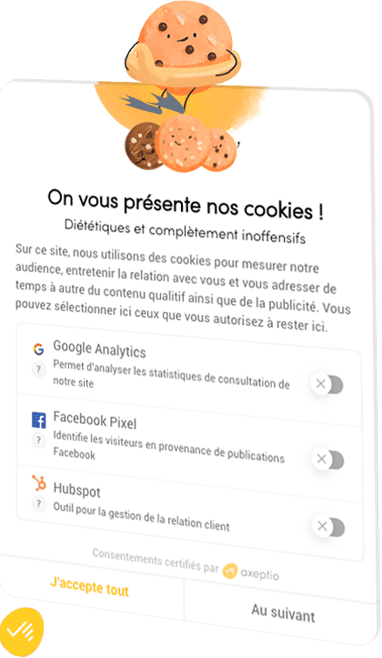 choix des cookies axeptio